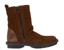 FLY London Leather Suede Mid Boots Fade Camel - NEW