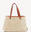 Sole Society Straw Oversize Tote Pipper Tote Nature - NEW
