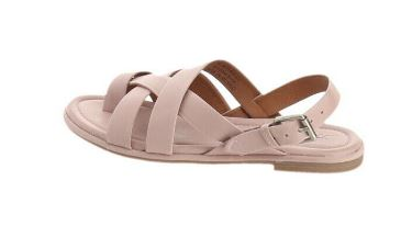 Frye Leather Toe-Loop Sling-Back Sandals Tait Lilac - A