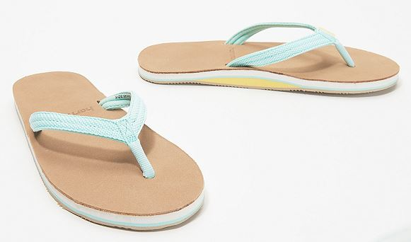 Hari Mari Women's Thong Sandals Scouts II Aqua/Sand - NEW