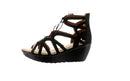 Skechers Lace-Up Wedges Terrace Black - NEW