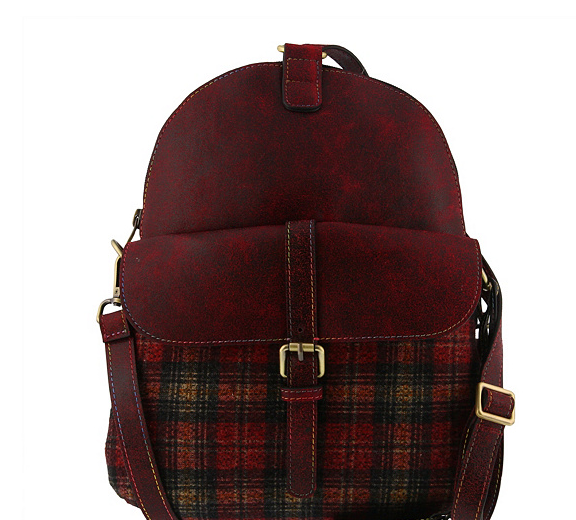 L'Artiste by Spring Step Convertible Backpack Scotty Bordeaux Multi - NEW