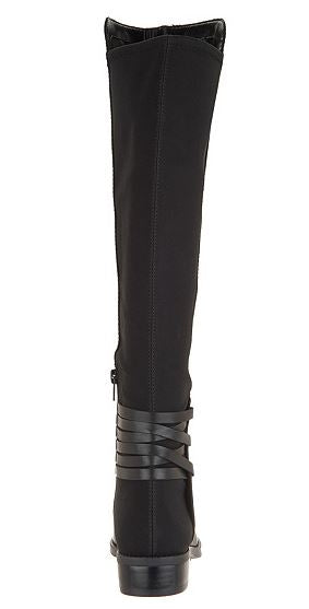 Vince Camuto Wide Calf Leather Tall Shaft Boots Black - NEW