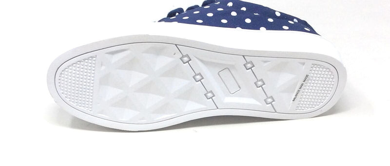 Isaac Mizrahi Lace-Up Polka Dot Sneakers Navy - NEW