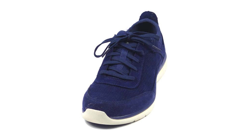 Ryka Perforated Suede Lace-Up Shoes Elle Blue - A