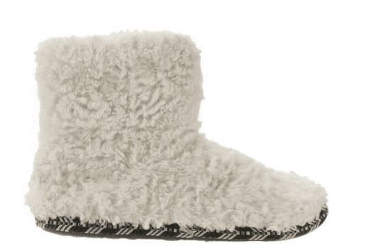 Cuddl Duds Faux Fur Zip-Up Boot Slippers Ivory  - NEW