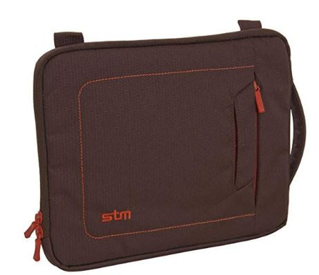 "STM Jacket Laptop Sleeve for 13"" Screens Chocolate /Orange - NEW"