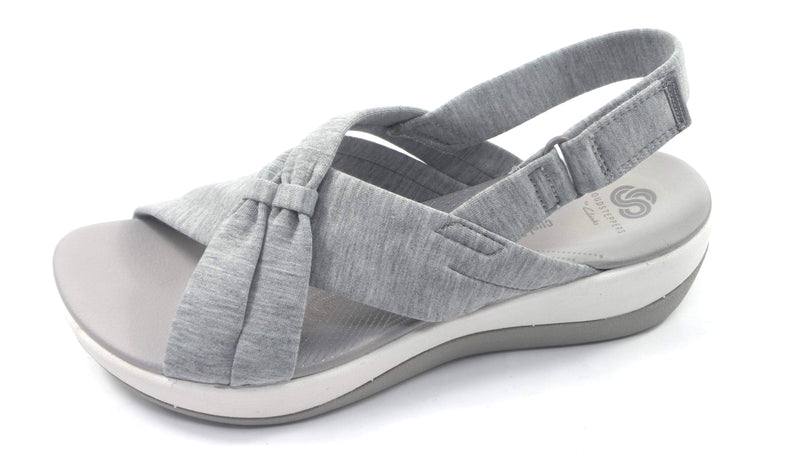CLOUDSTEPPERS by Clarks Jersey Sport Sandals Arla Belle Light Grey - A