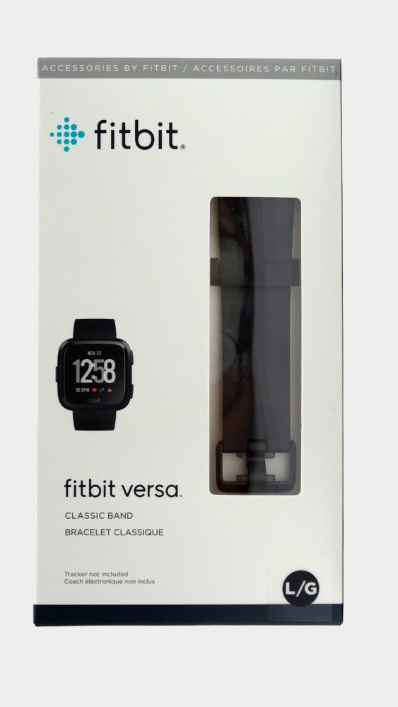 Fitbit Classic Band for Fibit Versa Smartwatch Black - A