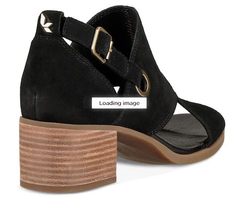 Koolaburra Suede Block Heeled Sandals Shootie Kaiah Black - NEW