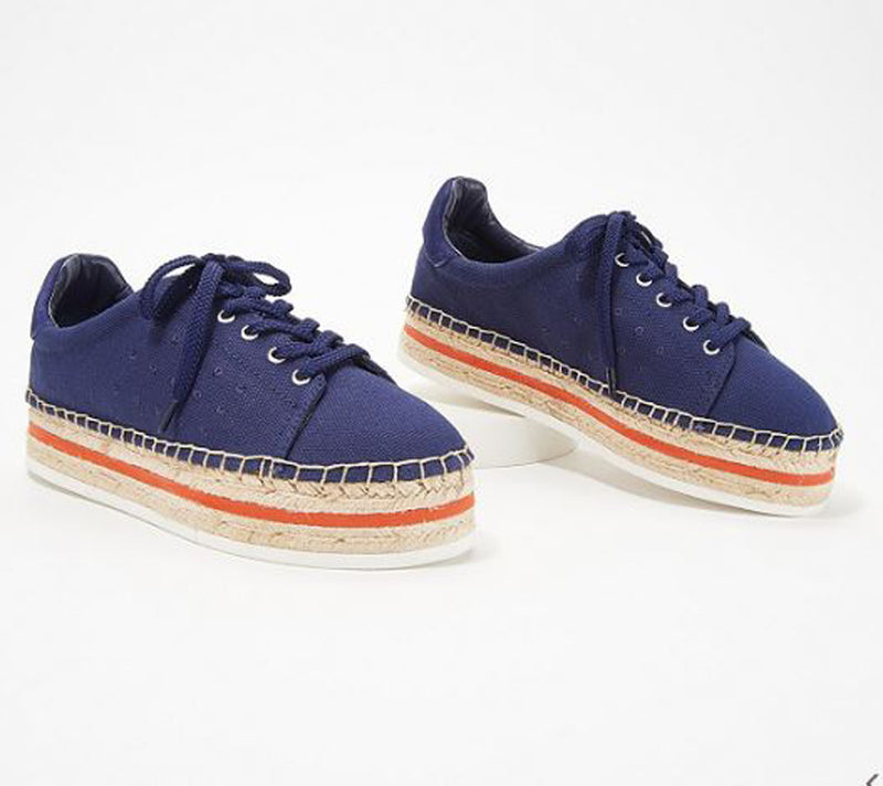 Vince Camuto Canvas Espadrille Sneakers Jannell New Navy - A