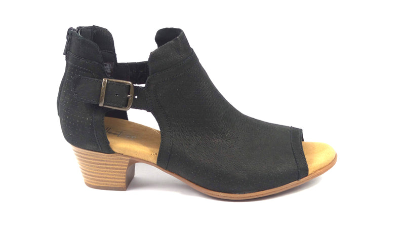 Clarks Collection Leather Open Toe Sandals Valarie Kimble Black - NEW