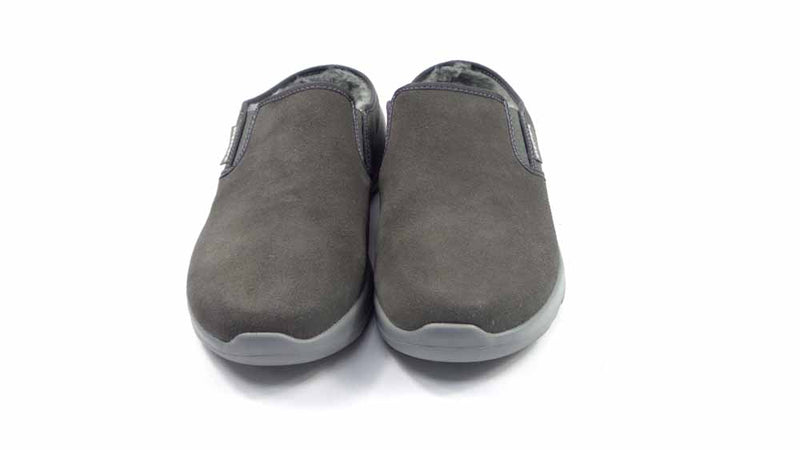 Skechers GOWalk Joy Water Repellant Suede Clogs Charcoal - NEW
