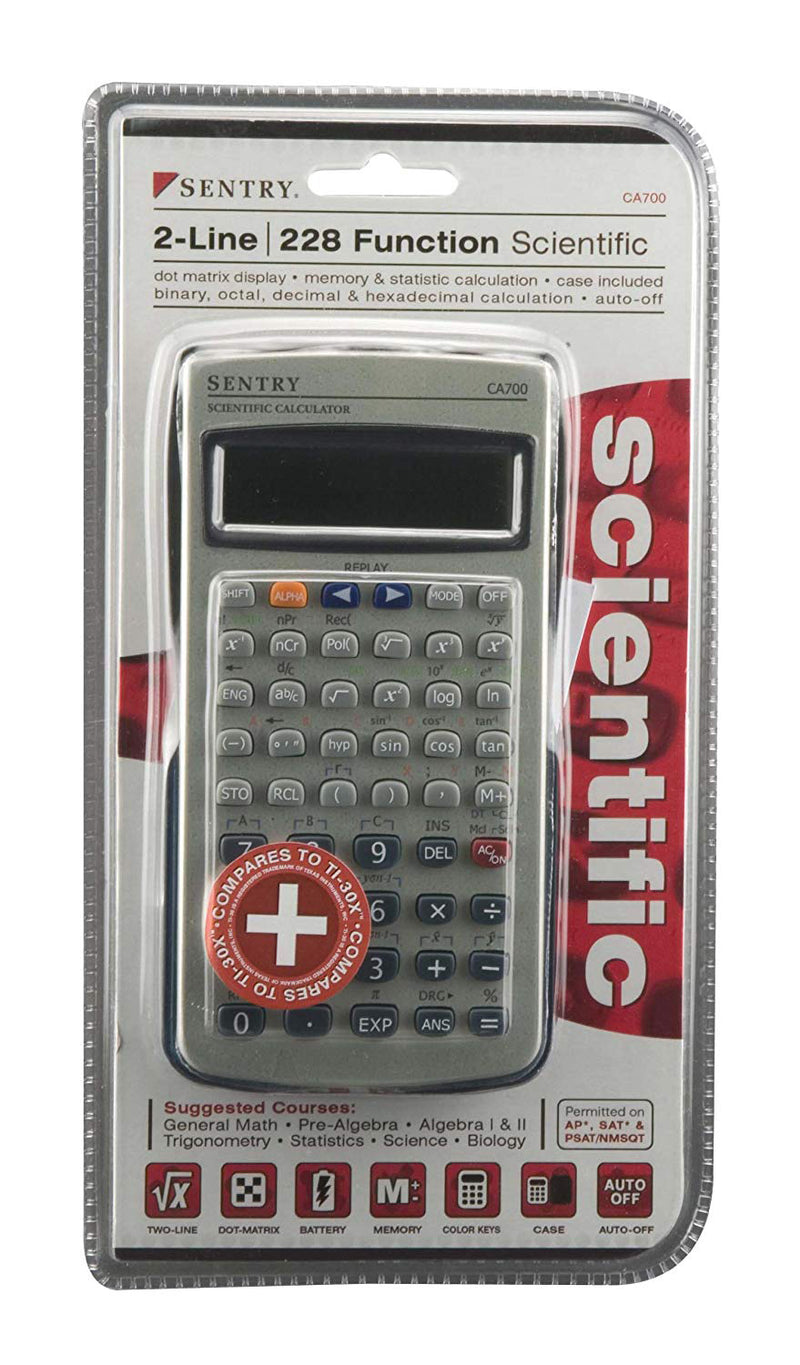 LOT OF 2 Sentry CA700 2-Line 228 Function Scientific Calculator