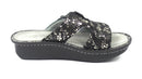 Alegria Leather Adjustable Slide Sandals Peggy Pewter Mosaic - NEW