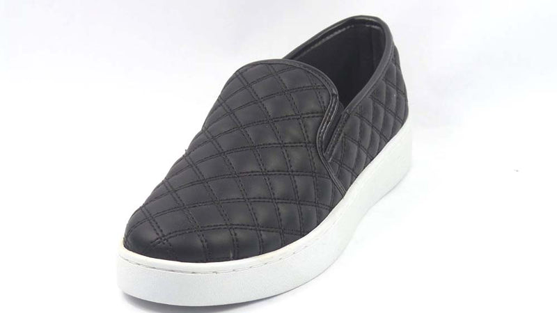Isaac Mizrahi Live! SOHO Quilted Slip-On Sneakers Black - A