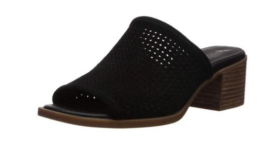 Koolaburra by UGG Perforated Suede Slip-On Mule Sandals Black - NEW