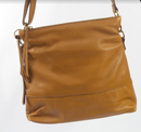 margot new york Convertible Double Zip Leather Hobo Clark Cognac - A