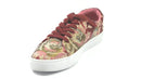 Isaac Mizrahi Live! Floral Brocade Lace-Up Sneakers Red Multi - A