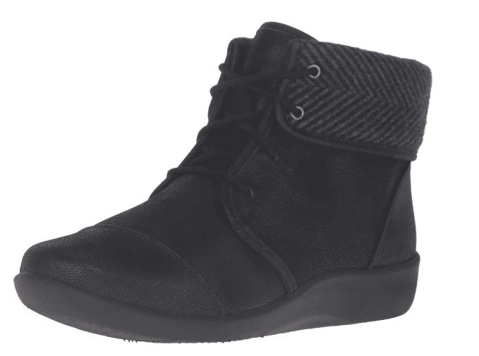 CLOUDSTEPPERS by Clarks Lace-up Ankle Boots Sillian Frey Black - NEW