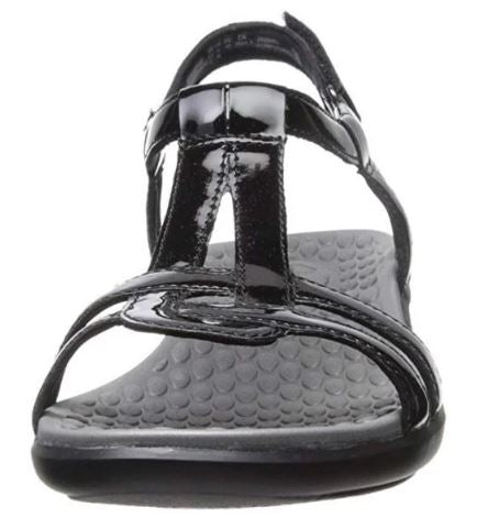 Clarks Women's Sonar Aster T-Strap Sandals Black - NEW