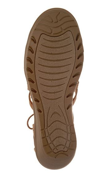 Skechers Lace-Up Wedges Terrace Tan - A