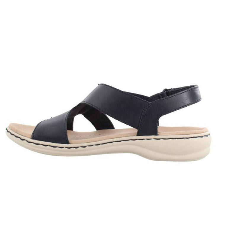 Clarks Collection Backstrap Sandals Leisa Joy Navy - A