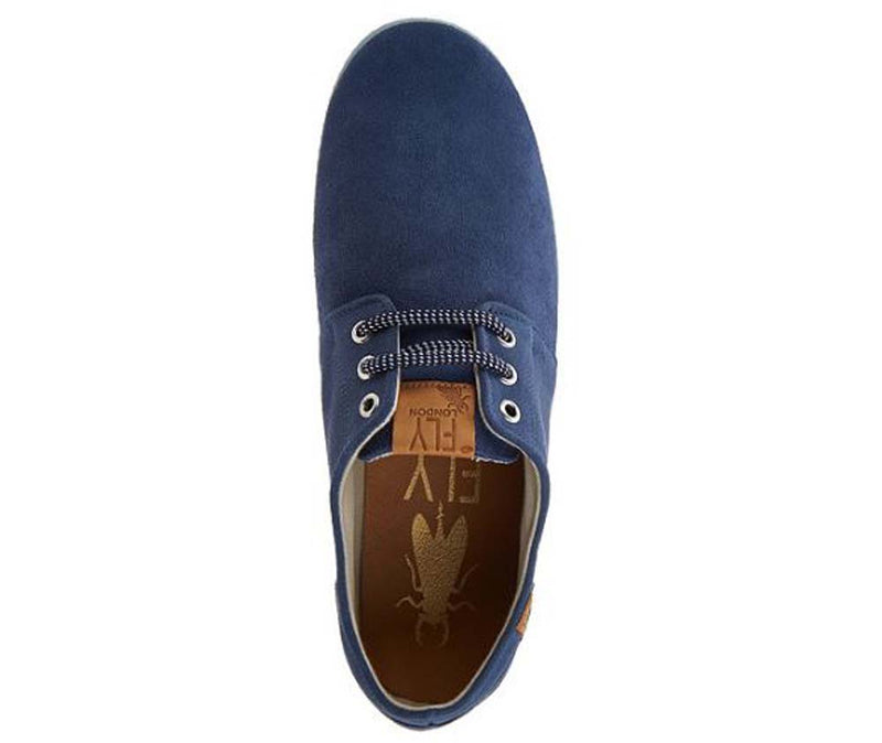 FLY London Men's Suede Lace Up Shoes Sesh Blue - NEW