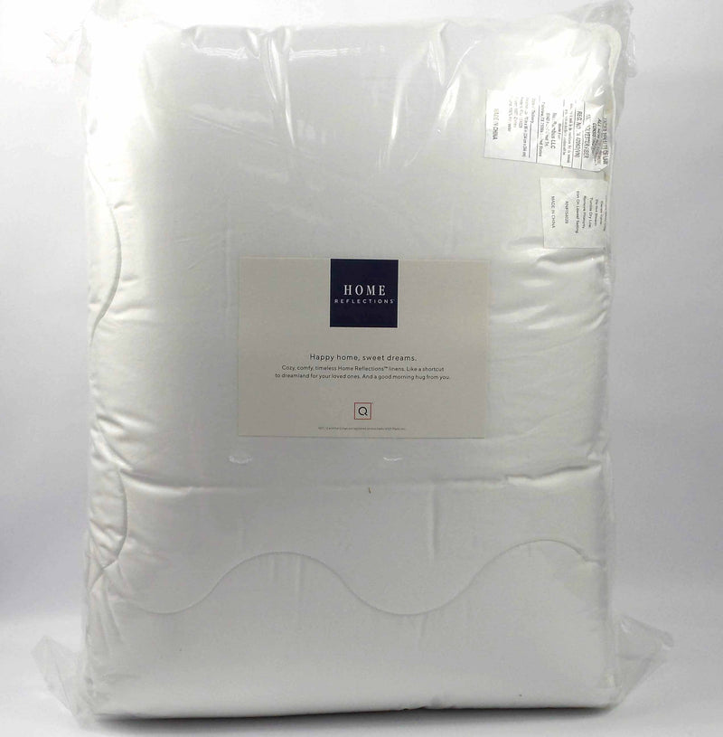 Home Reflections 500TC Cotton Scallop Stitch Comforter Full/Queen - NEW