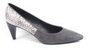 LOGO by Lori Goldstein Two Toned Pointed Toe Heels Pewter - NEW