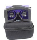SmartTheater Virtual Reality Headset Goggles with Storage Case Purple - NEW