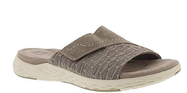 Earth Origins Suede/Knit Sandals Westfield Khaki - NEW