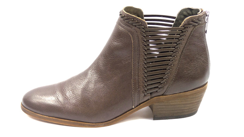 Vince Camuto Leather Booties Pippsy River Rock - NEW