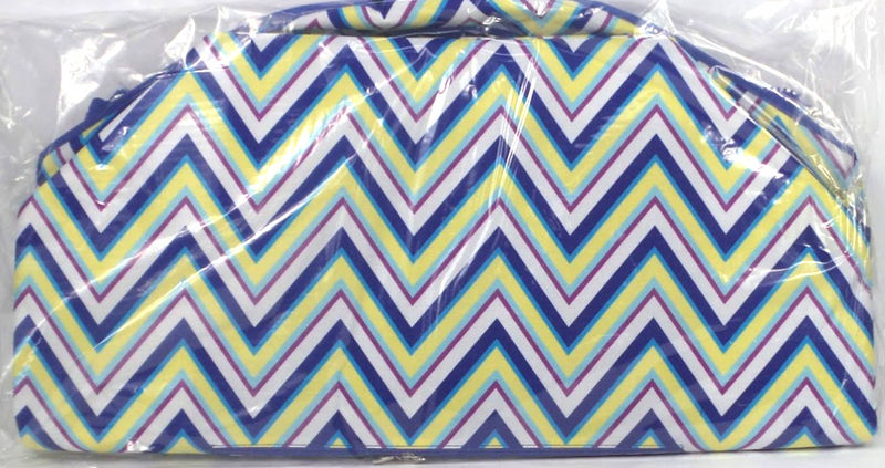 Pursfection Multipurpose XL Tote with Expandable Zippered Chevron - NEW
