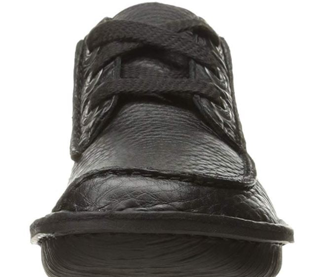 Clarks Unstructured Leather LaceUp Shoes Funny Dream Black - A