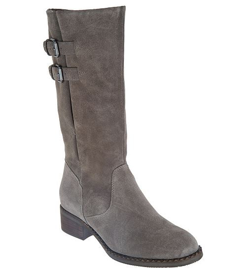 Gentle Souls by Kenneth Cole Leather Mid Calf Boots Brian Concrete Suede - NEW