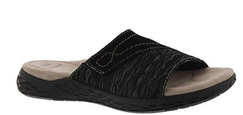 Earth Origins Suede Knit Sandals Westfield Black - NEW