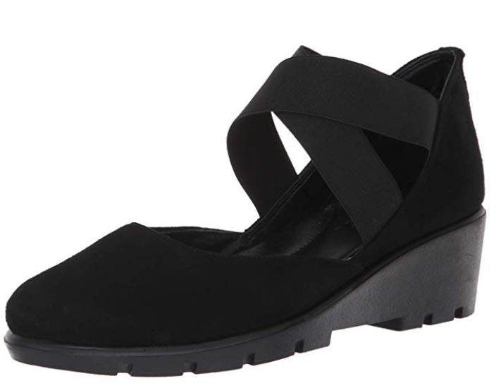 The Flexx Suede Cross-Band Mary Janes Get Back Black - NEW