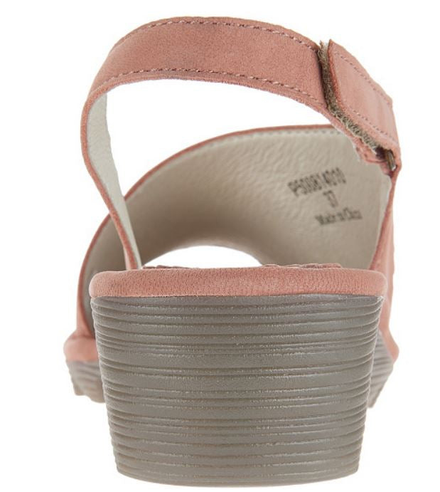 FLY London Leather Slingback Wedges Palp Rose - NEW