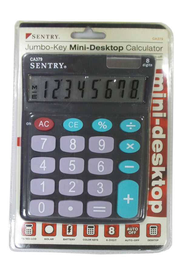Sentry CA379 Color Jumbo-Key Mini-Desktop Calculator