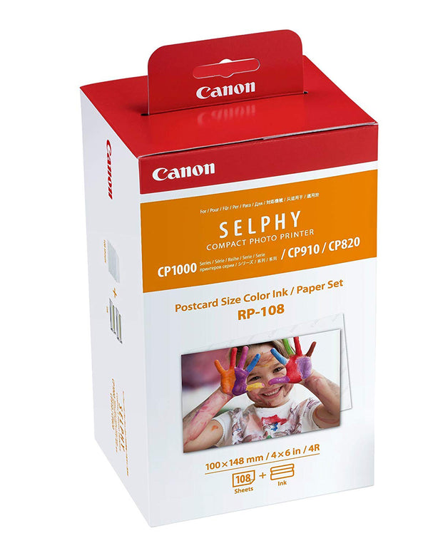 Canon RP-108 Selphy Compact Photo Printer Postcard Size Color Ink/ Paper Set  - NEW