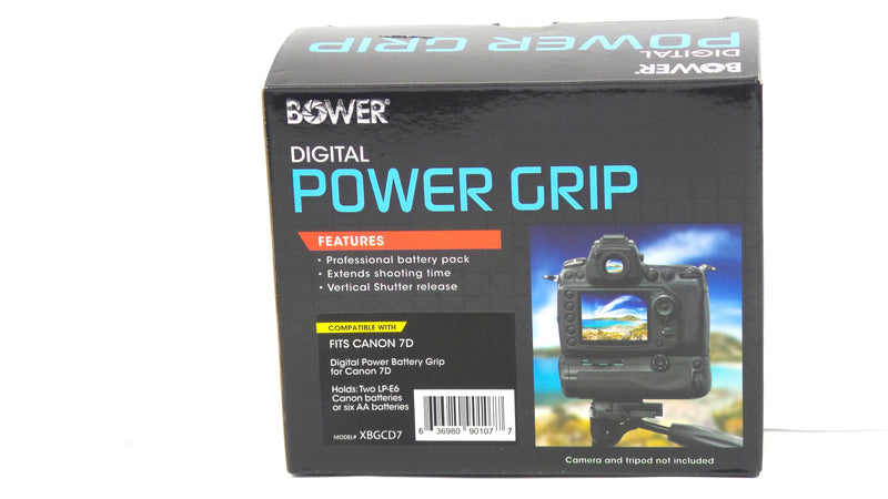 Bower XBGCD7 Digital Power Battery Grip for Canon EOS 7D - NEW