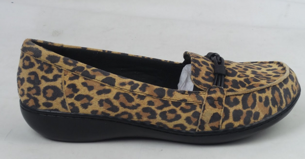 Clarks Collection Ashland Ballot Leather Loafer Leopard Print - A