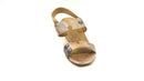Vaneli Leather Puzzle Piece Heeled Sandals Channa Multi Metallic - NEW