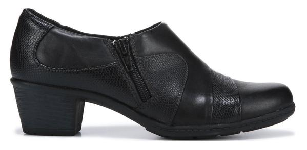 Earth Origins Leather Side Zip Shooties Monica Black - A
