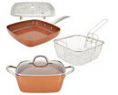 Copper Chef 9.5in Square Casserole Pan and 9.5in Skillet  - A