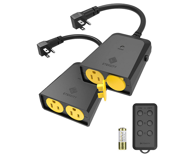 ETekcity Wireless Outdoor Remote Control Outlets - Set of 2 - A