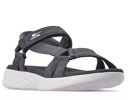 Skechers GO Walk Move Quarter Strap Sandals Brilliancy Black - A