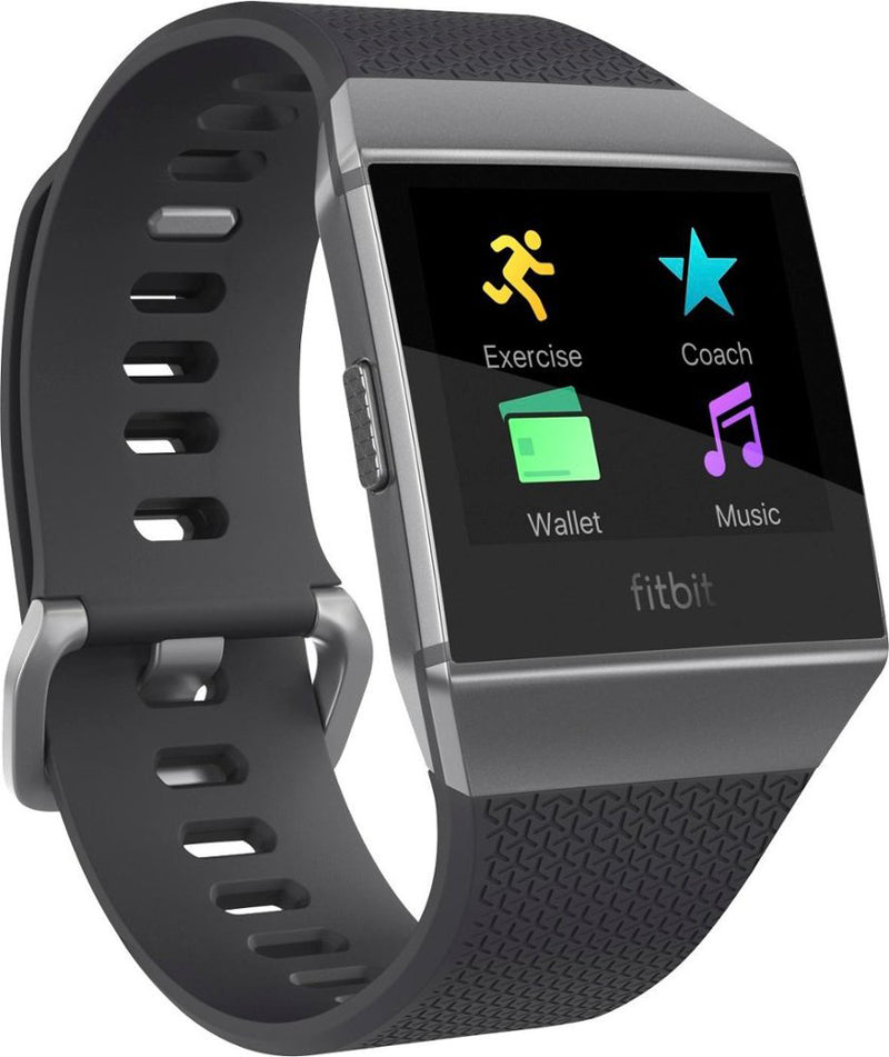 Fitbit Ionic FB503GYBK Smartwatch Charcoal/Smoke Gray  - A