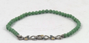 Barbara Bixby Sterling & 18K Jade Bead Necklace withe Pave Le Green - A